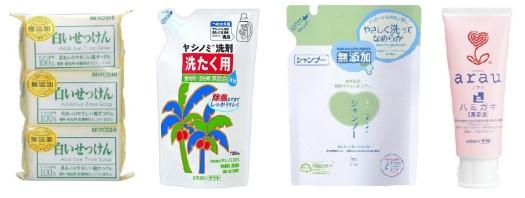 Contoh body care tanpa pewangi / pewarna / bahan aditif yang dijual di Jepang