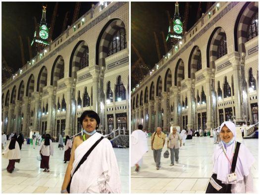 Wajah-wajah lelah sekaligus lega seusai umrah. Jam di Zamzam Tower sudah menunjukkan pukul 22.40 waktu setempat. Saat itu, kami sama sekali tidak tahu di mana anggota rombongan lainnya berada.