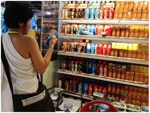 Shopping pertama di Bin Dawood, masih pakai baju ihram :razz: Cari susu coklat lumayan susah karena kebanyakan
