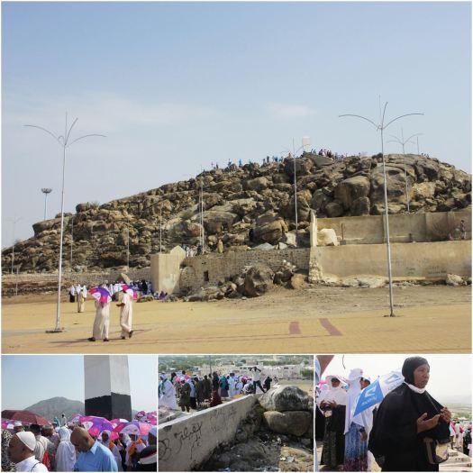 Bukit Jabal Rahmah yang diyakini sebagai tempat bertemunya Nabi Adam a.s. dengan Hawa