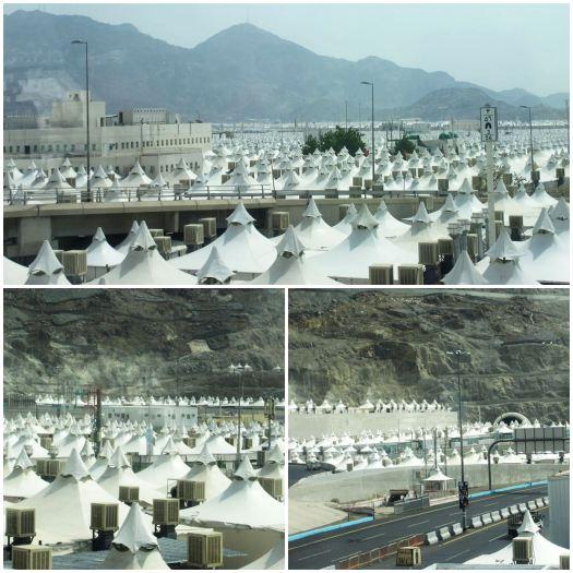 Tenda-tenda di Mina telah terpasang rapi, siap menyambut para tamu Allah