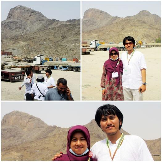 Shots in front of Jabal Nur