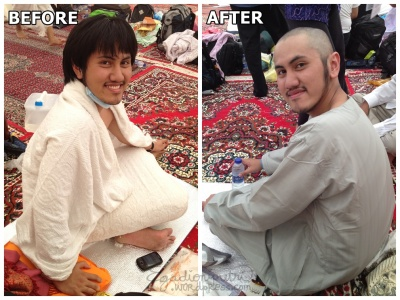 Husband version of before and after tahallul :mrgreen: