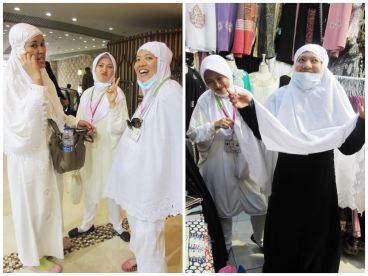 Ekspresi emak-emak yang semangat berburu abaya :D