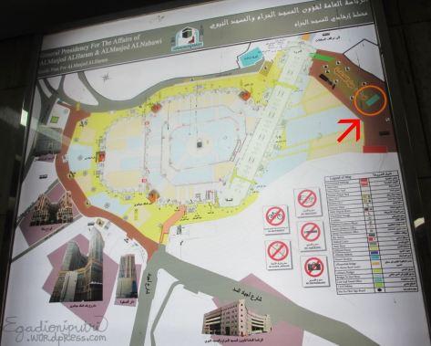 Peta Masjidil Haram yang kami temukan