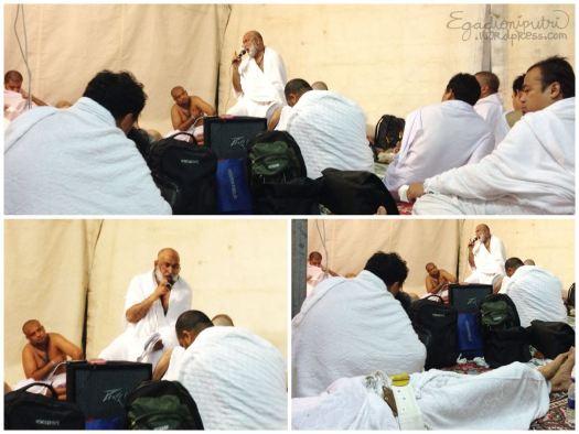 Siraman rohani pagi hari dari pembimbing haji kami, brother Salim
