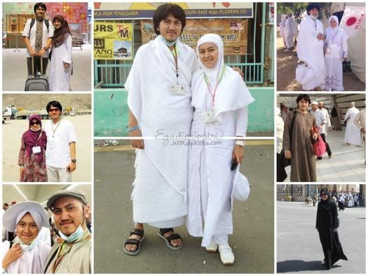 Beberapa gambaran pakaian dan aksesoris untuk haji